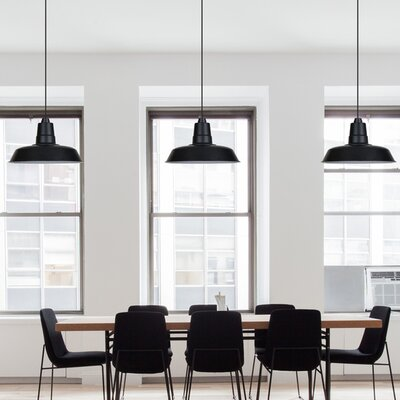 Oldage LED Inverted Pendant Finish: Matte Black, Size: 72