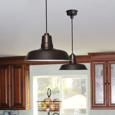 Oldage LED Inverted Pendant Finish: Mahogany Bronze, Size: 72 H x 16 W x 16 D