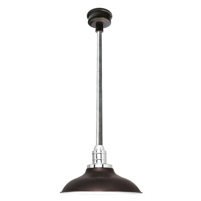 Peony LED Inverted Pendant Size: 48 H x 10 W x 10 D, Finish: Mahogany Bronze/Galvanized Silver