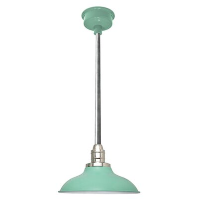 Peony LED Inverted Pendant Finish: Jade/Galvanized Silver, Size: 48 H x 10 W x 10 D