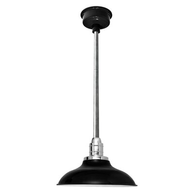 Peony LED Inverted Pendant Finish: Black/Galvanized Silver, Size: 48 H x 10 W x 10 D