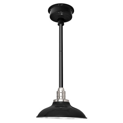 Peony LED Inverted Pendant Finish: Black, Size: 48 H x 10 W x 10 D