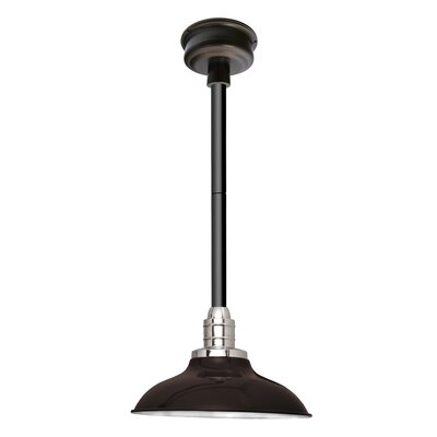 Peony LED Inverted Pendant Finish: Mahogany Bronze/Black, Size: 48 H x 12 W x 12 D