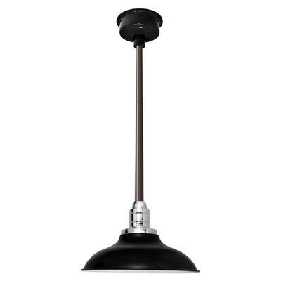 Peony LED Inverted Pendant Finish: Black/Mahogany Bronze, Size: 48 H x 10 W x 10 D