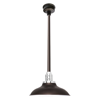 Peony LED Inverted Pendant Finish: Mahogany Bronze, Size: 48 H x 12 W x 12 D