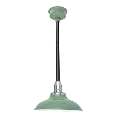 Peony LED Inverted Pendant Size: 48 H x 10 W x 10 D, Finish: Jade/Black
