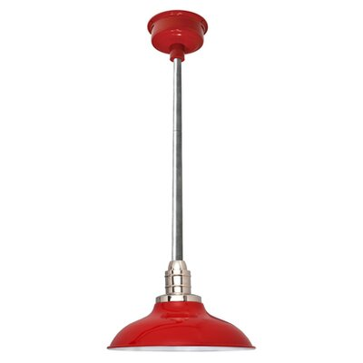 Peony LED Inverted Pendant Finish: Cherry Red/Galvanized Silver, Size: 48 H x 12 W x 12 D