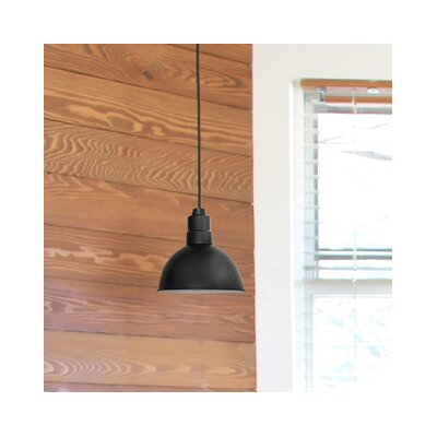 Peony Blackspot LED Inverted Pendant Finish: Matte Black, Size: 48 H x 14 W x 14 D