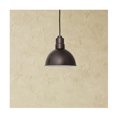 Peony Blackspot LED Inverted Pendant Finish: Mahogany Bronze, Size: 48 H x 14 W x 14 D