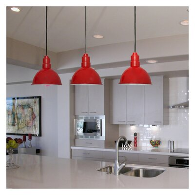 Peony Blackspot LED Inverted Pendant Finish: Cherry Red, Size: 72 H x 10 W x 10 D
