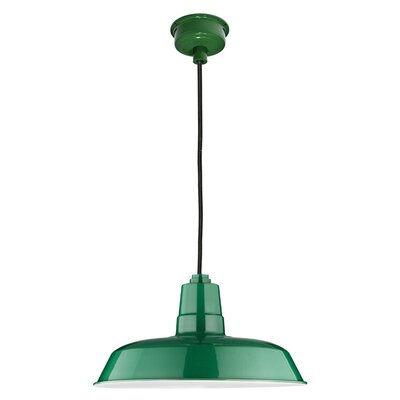 Oldage LED Inverted Pendant Finish: Vintage Green, Size: 72 H x 12 W x 12 D