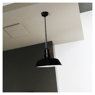 Goodyear LED Inverted Pendant Size: 72 H x 10 W x 10 D, Finish: Vintage Green