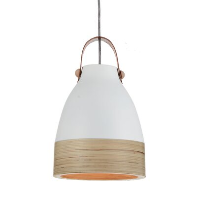Norcia 1-Light LED Inverted Pendant Shade Color: White/Cream, Size: 13 H x 9 W x 9 D