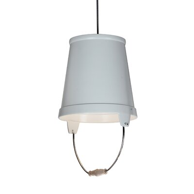 Orvieto 1-Light LED Mini Pendant Shade Color: White