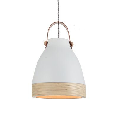 Norcia 1-Light LED Inverted Pendant Shade Color: White/Cream, Size: 17 H x 13 W x 13 D