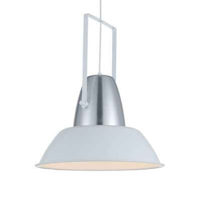 Cremona 1-Light LED Inverted Pendant Finish: White/Silver