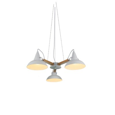 Amatrice 3-Light LED Mini Chandelier Finish: White
