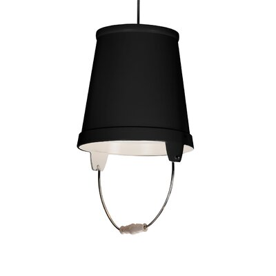 Orvieto 1-Light LED Mini Pendant Shade Color: Black