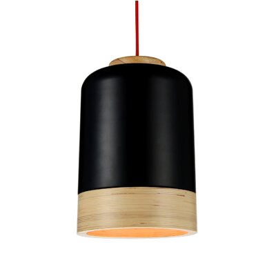Novara 1-Light LED Mini Pendant Shade Color: Black