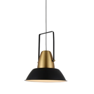 Cremona 1-Light LED Inverted Pendant Finish: Black/Gold
