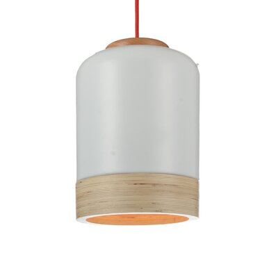 Novara 1-Light LED Mini Pendant Shade Color: White