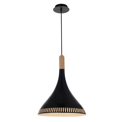 Todi 1-Light LED Inverted Pendant Finish: Black
