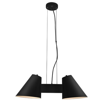 Perugia 2-Light Shaded Chandelier Finish: Black