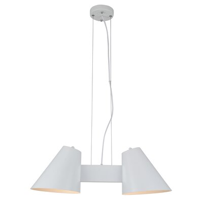 Perugia 2-Light Shaded Chandelier Finish: White