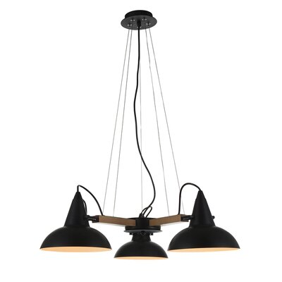 Amatrice 3-Light LED Mini Chandelier Finish: Black