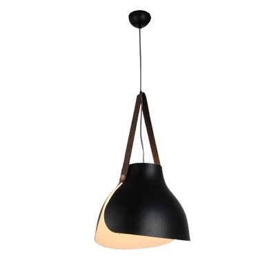 Enna 1-Light LED Mini Pendant Finish: Black