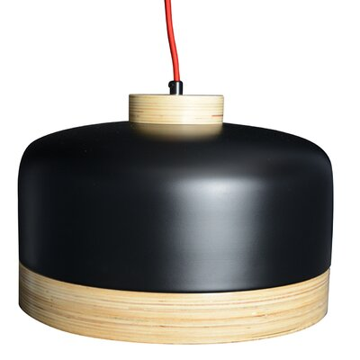 Vicenza 1-Light LED Drum Pendant Finish: Black