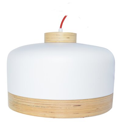 Vicenza 1-Light LED Drum Pendant Finish: White