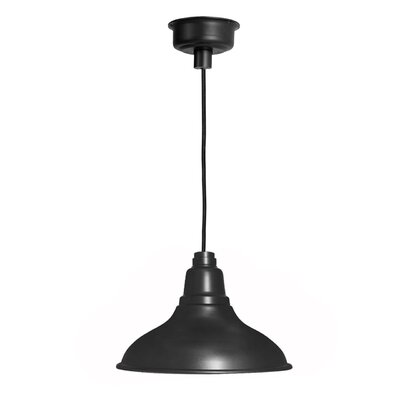 Idella 1-Light LED Inverted Pendant Finish: Matte Black, Size: 9 H x 8 W x 8 D