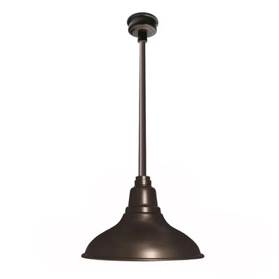 Idella Outdoor 1-Light LED Inverted Pendant Finish: Mahogany Bronze, Size: 9 H x 8 W x 8 D