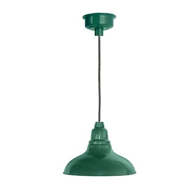 Idella 1-Light LED Inverted Pendant Finish: Vintage Green, Size: 9 H x 8 W x 8 D
