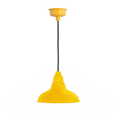 Idella 1-Light LED Inverted Pendant Finish: Yellow, Size: 9 H x 12 W x 12 D