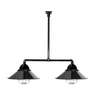 Geraldton 2-Light Kitchen Island Pendant Shape Color: Black