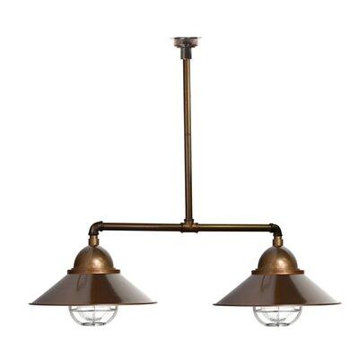 Geraldton 2-Light Kitchen Island Pendant Shape Color: Brass