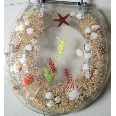 Seahorse Round Toilet Seat Finish: Clear