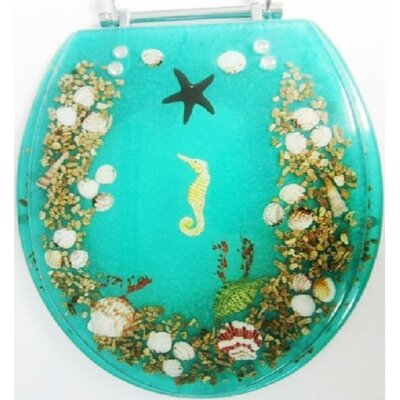 Seahorse Round Toilet Seat Finish: Green