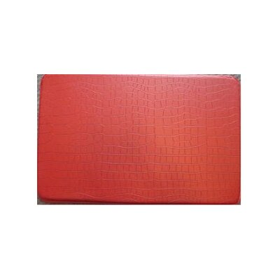 Crocodile Chef Kitchen Mat Color: Red