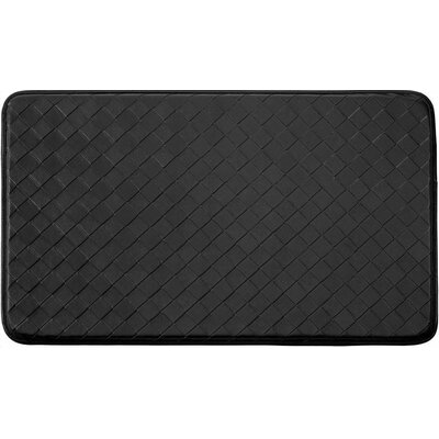 Diamond Chef Kitchen Mat Color: Black