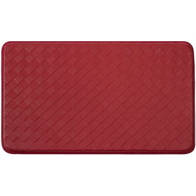 Diamond Chef Kitchen Mat Color: Red