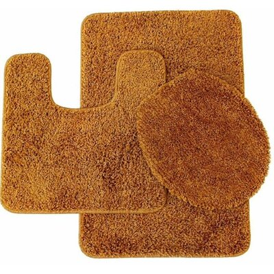 Kober 3 Piece Solid Bath Mat Set Color: Gold