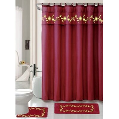 Sandra 15 Piece Bathroom Set Color: Burgundy