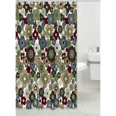 Garden Polyester Shower Curtain Color: Green
