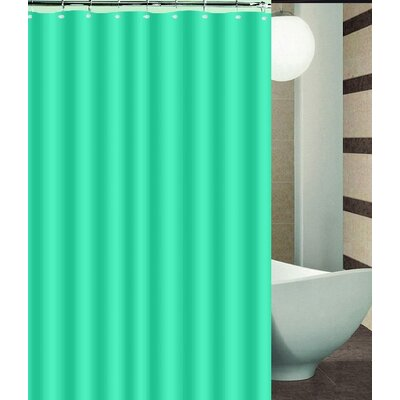 Aden Shower Curtain Color: Aqua