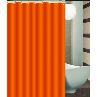 Aden Shower Curtain Color: Orange