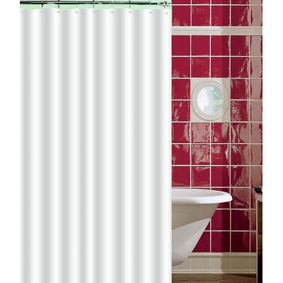 Aden Shower Curtain Color: White