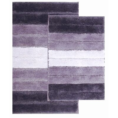 2 Piece Ombre Shade Bath Rug Set Color: Purple